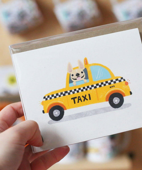 #100DAYPROJECT French Bulldog Note Cards Box Set of 12 - TAXI