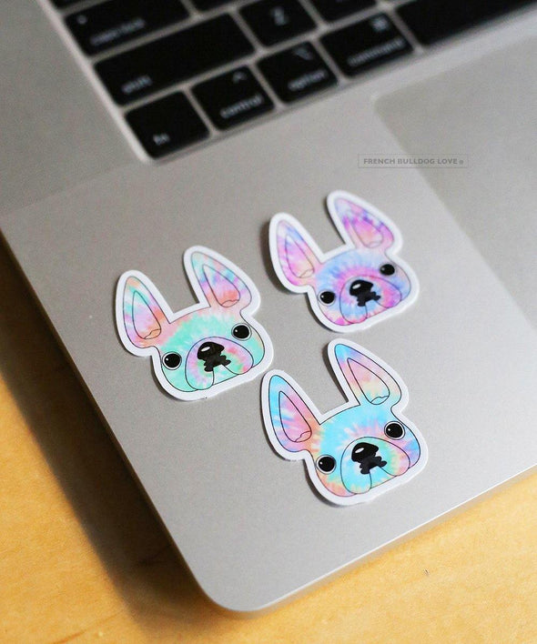 Tie Dye Sticker Set - Set of 3 Waterproof Vinyl Stickers