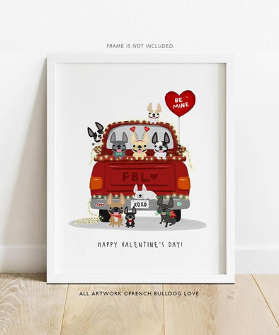 Love Truck - Custom French Bulldog Print 8x10