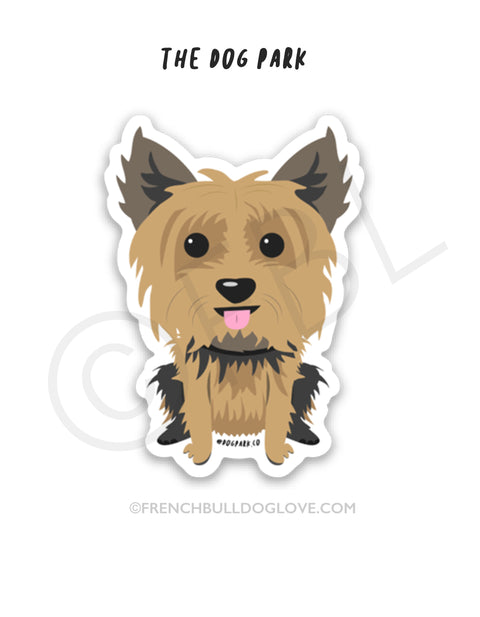 Yorkie Mini Sticker - The Dog Park by French Bulldog Love