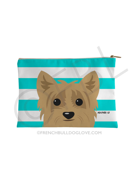 Classic Yorkie Pouch - Tan - Small Accessory Pouch