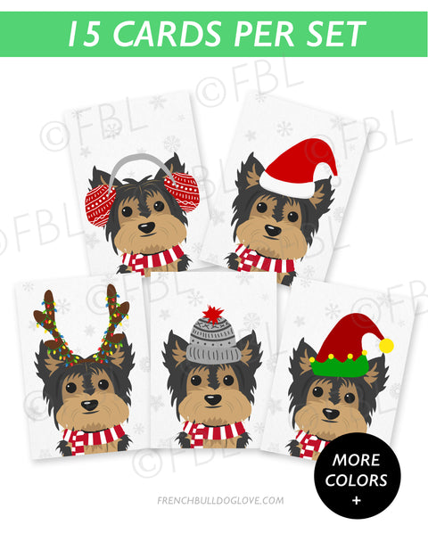Yorkie - Festive Pups - 15 Card Holiday Box Set