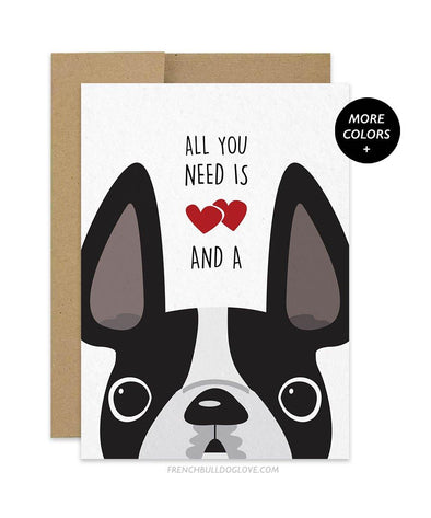 All You Need French Bulldog Greeting Card