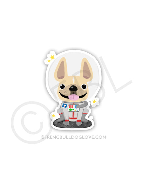 #100DAYPROJECT 37/100 -ASTRONAUT VINYL FRENCH BULLDOG STICKER