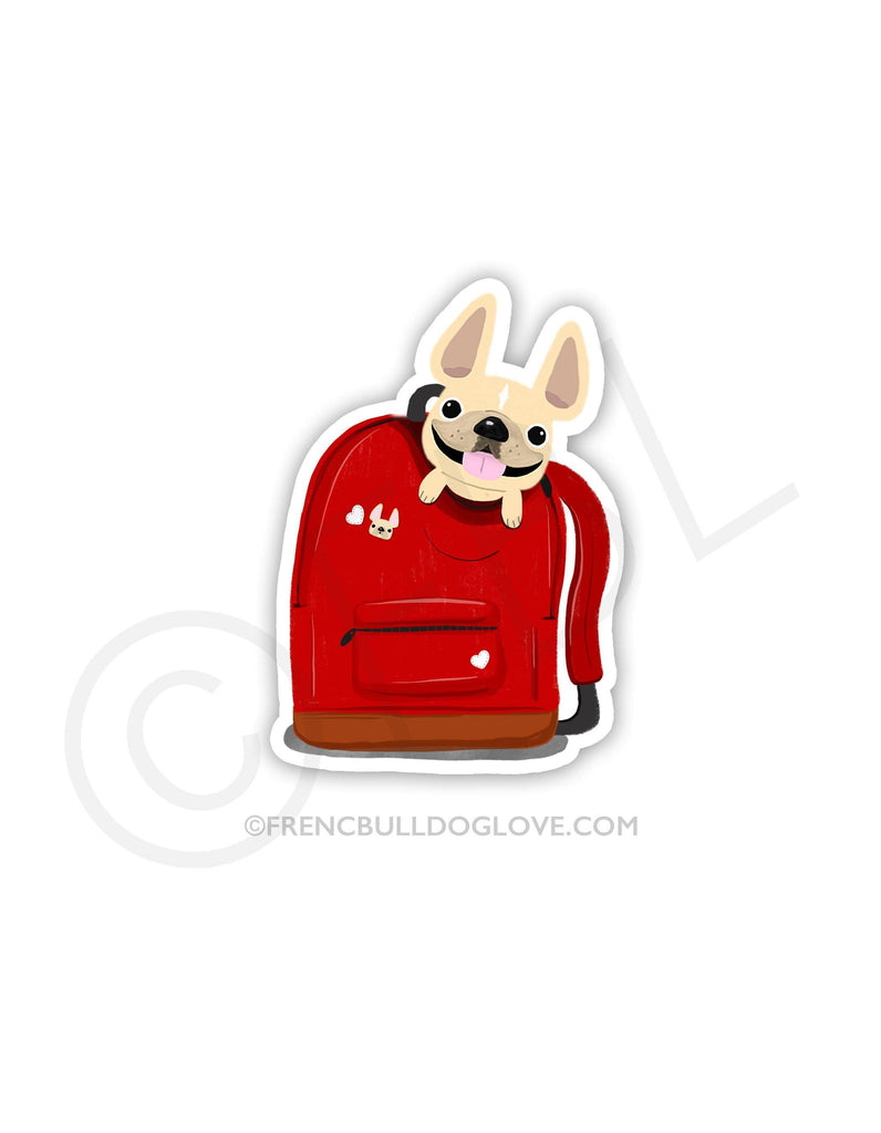 #100DAYPROJECT 38/100 - BACKPACK VINYL FRENCH BULLDOG STICKER