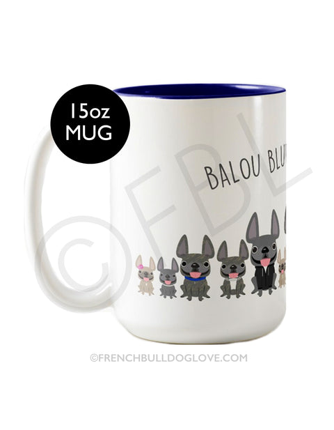 FBL Exclusive - @Baloublue - Balou & his Baloubies Coffee Mug 15oz