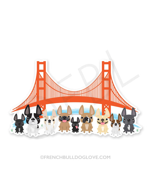 Bay Area Frenchies Vinyl Sticker