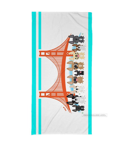 Bay Area Frenchies / French Bulldog Beach Towel