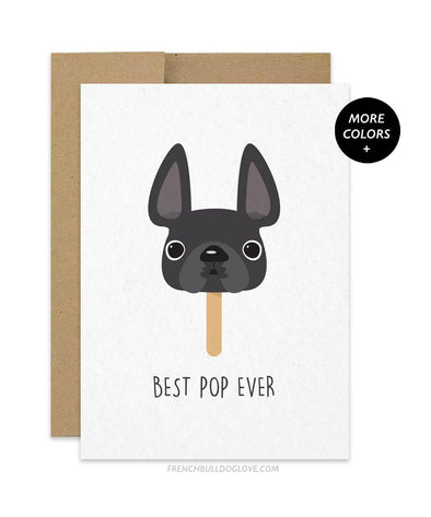 Best Pop Ever - Card - French Bulldog Love