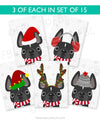 Festive Frenchies 15 Card Holiday Box Set - French Bulldog Love - 2