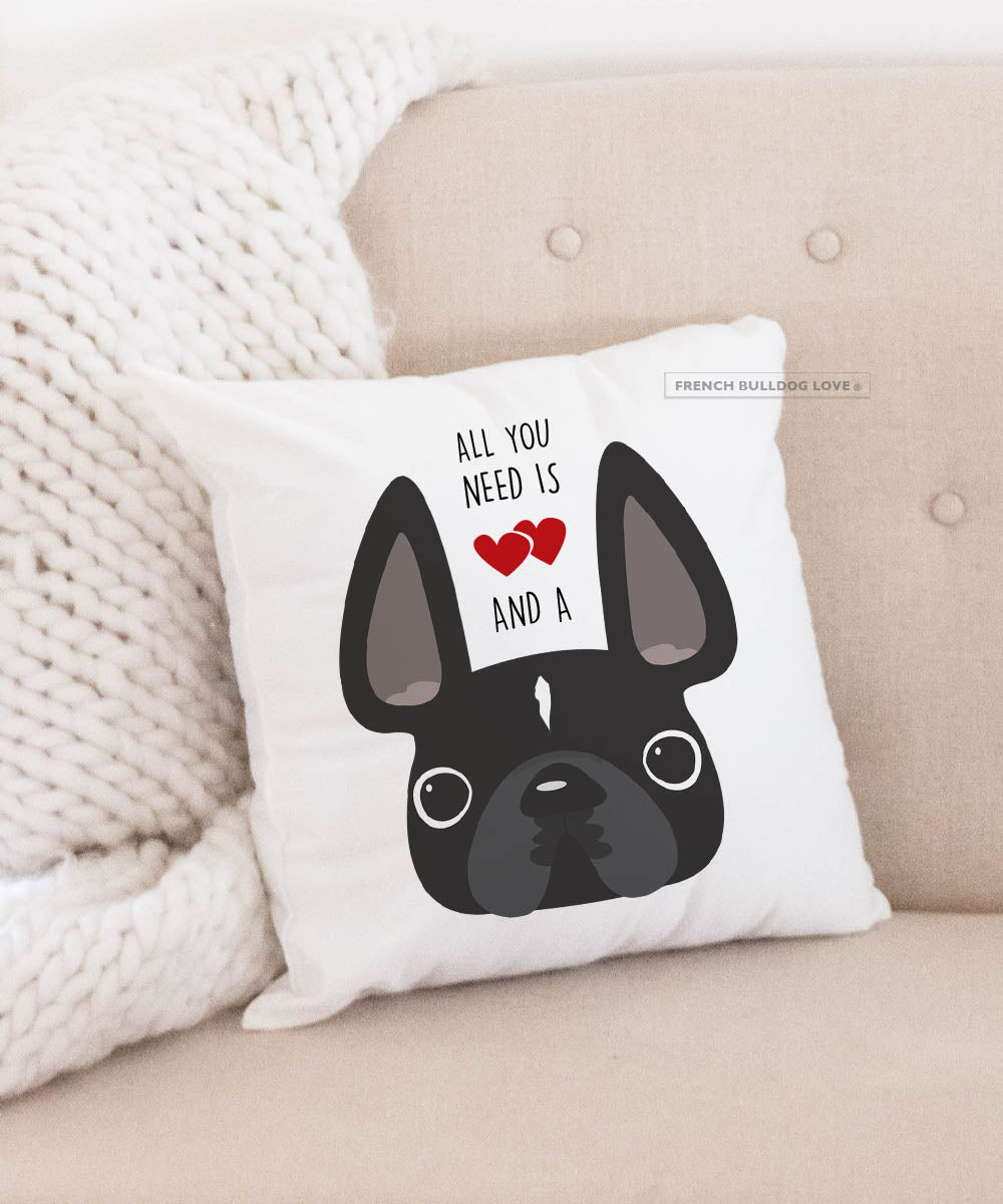 Frenchie You're The Sunshine in My Heart French Bulldog Art Pillow ...