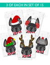 Festive Frenchies 15 Card Holiday Box Set - French Bulldog Love - 3