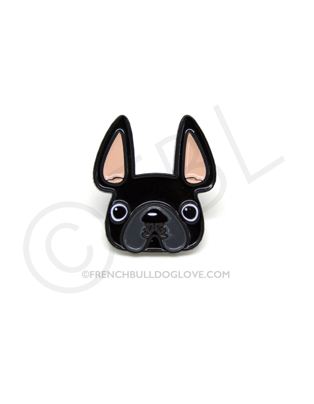 French Bulldog Enamel Pin - Black Frenchie