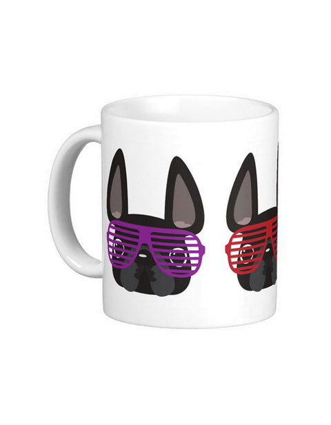 Summer Shades French Bulldog Coffee Mug / BLACK - French Bulldog Love - 1