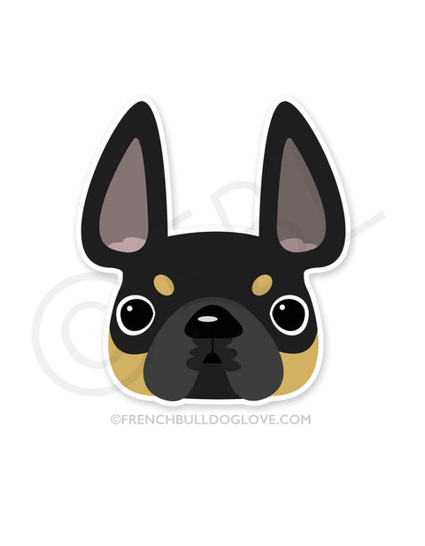 Black & Tan / French Bulldog Mini Sticker