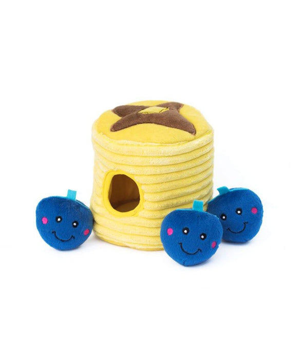 Blueberry Pancakes Burrow Dog Toy by ZippyPaws