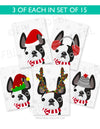 Festive Frenchies 15 Card Holiday Box Set - French Bulldog Love - 4