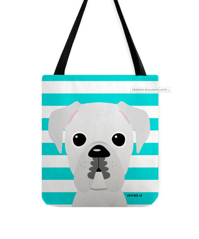Boxer Tote Bag - All White