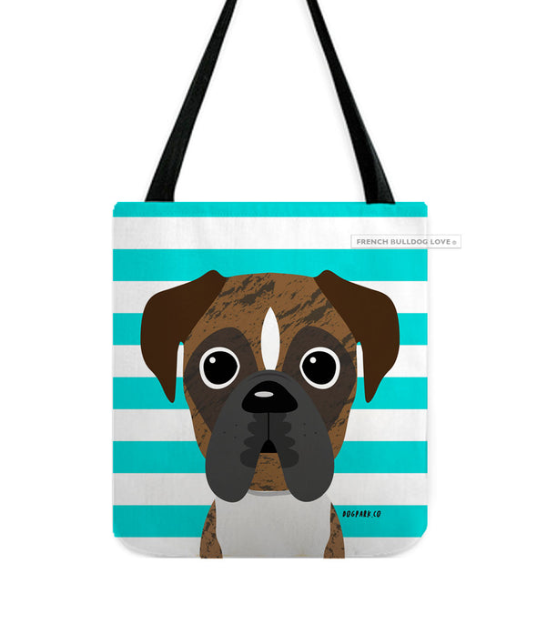 Boxer Tote Bag - Brindle Pied