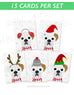 Boxer - Festive Pups - 15 Card Holiday Box Set