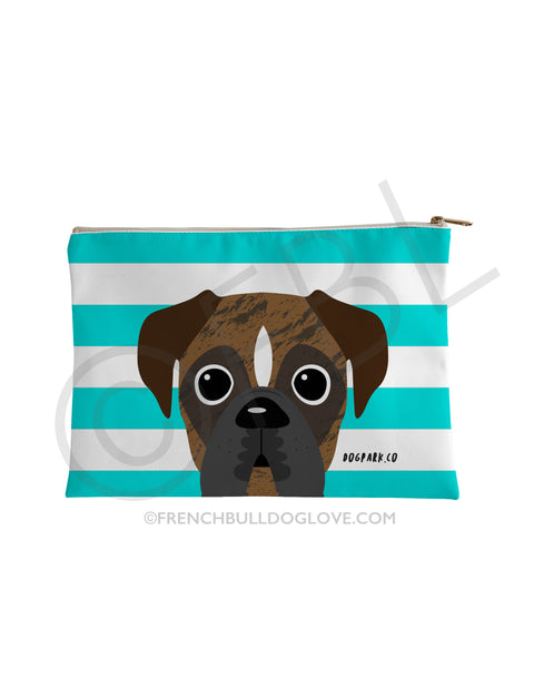 Classic Boxer Pouch - Brindle Pied - Small Accessory Pouch