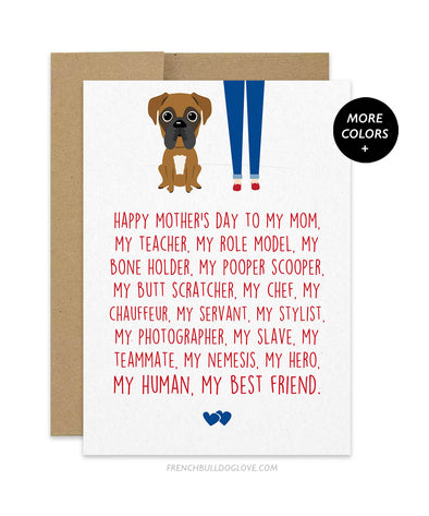 Mom Servant - Boxer Mother's Day Card