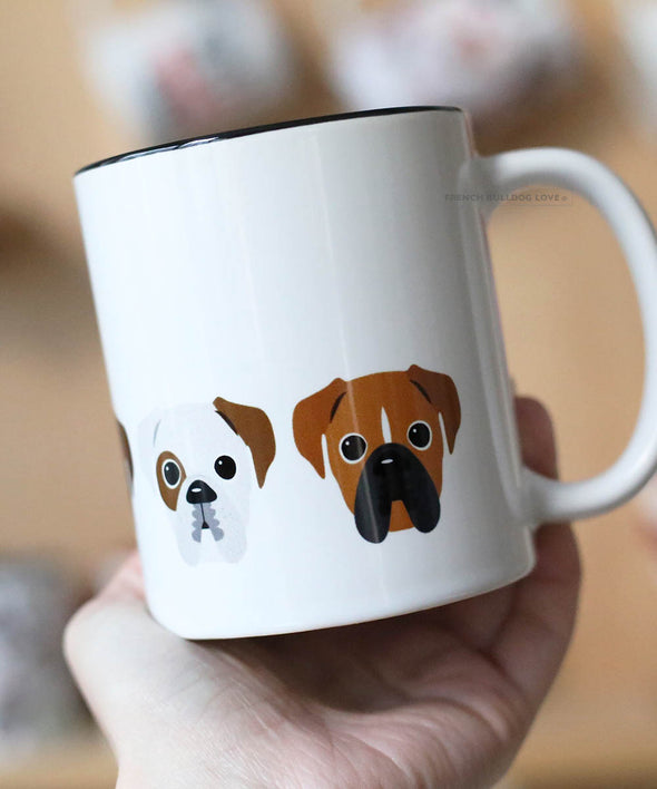 Five Little Boxers - Boxer Dog Coffee Mug