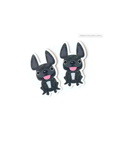 Itty Bitty Mini Stickers - Set of 2 - Frenchie #19 - Waterproof Vinyl
