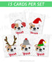Bulldog - Festive Pups - 15 Card Holiday Box Set