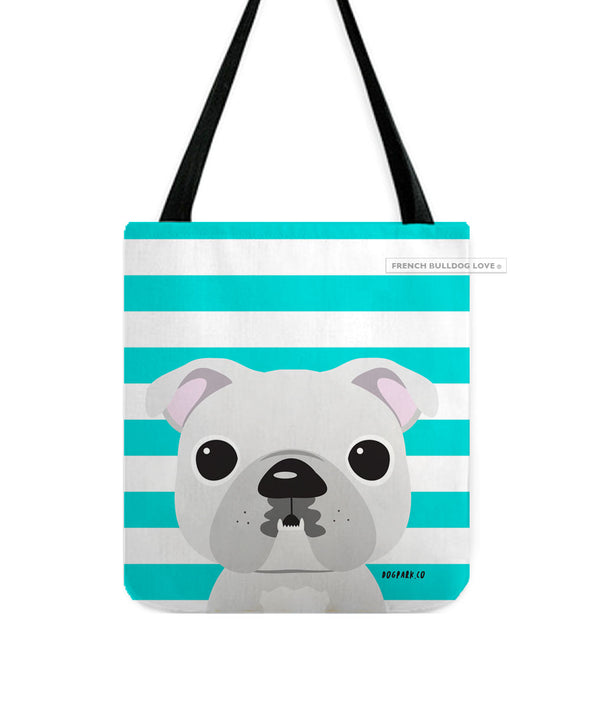 Bulldog Tote Bag - White