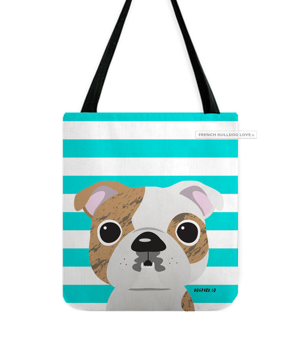 Bulldog Tote Bag - Brindle Bulldog