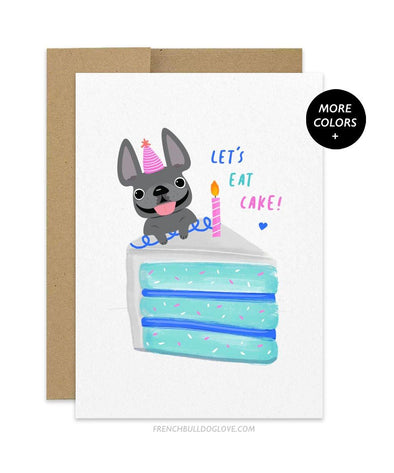 CAKE 8 - French Bulldog Birthday Card