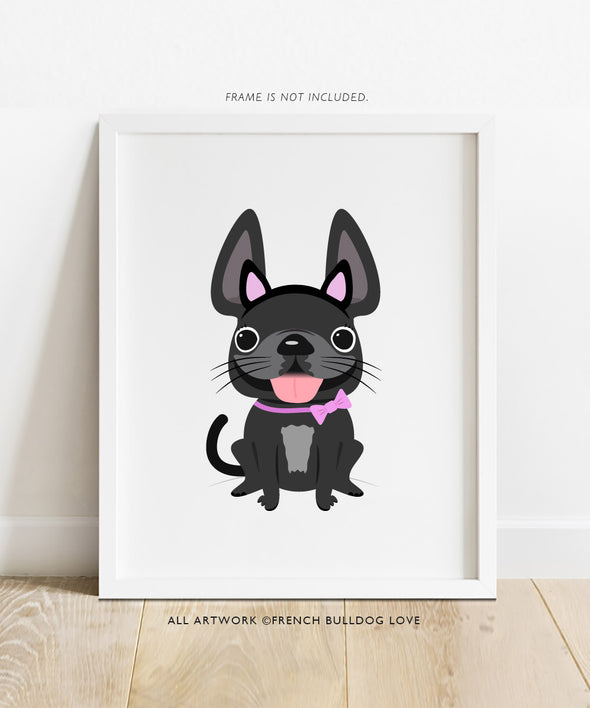 Puuurfect Frenchie - French Bulldog Halloween Print 8x10