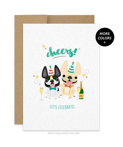 Cheers! French Bulldog Greeting Card