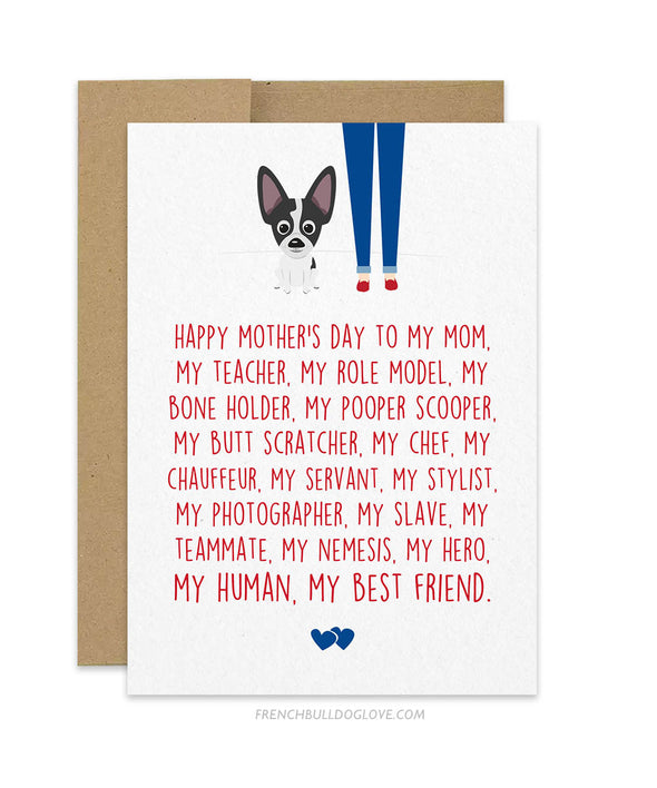 Mom Servant - Chihuahua Mother's Day Card