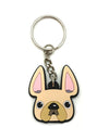Frenchie Face Mini Keychain / All Cream - French Bulldog Love - 1