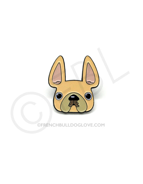 French Bulldog Enamel Pin - Cream Frenchie