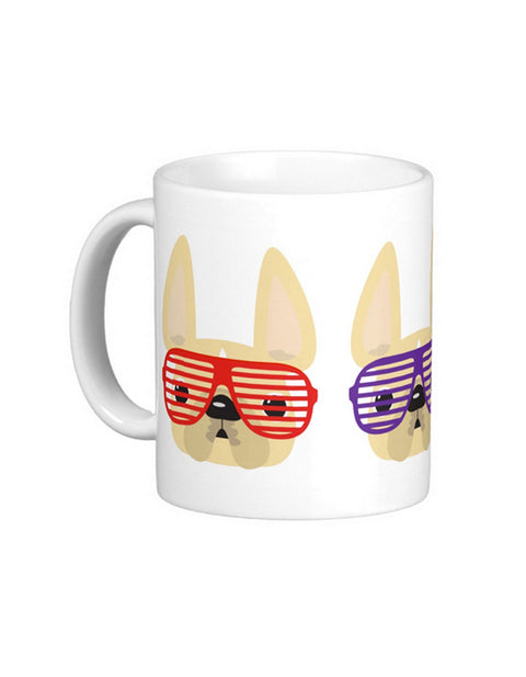 Summer Shades - French Bulldog Coffee Mug / CREAM - French Bulldog Love - 1