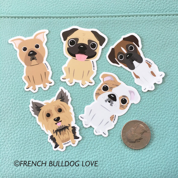 Boxer Mini Sticker - The Dog Park by French Bulldog Love