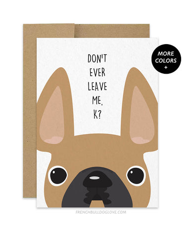 Don't Ever Leave Me, K? - Card
