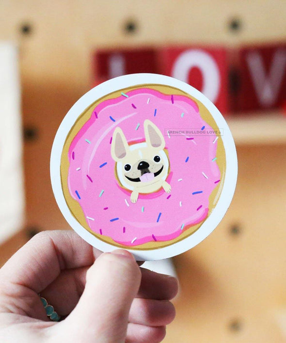 #100DAYPROJECT DONUT French Bulldog Magnet