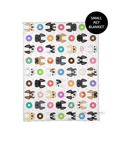 MMM... Donuts! Pet Fleece Blanket - Small