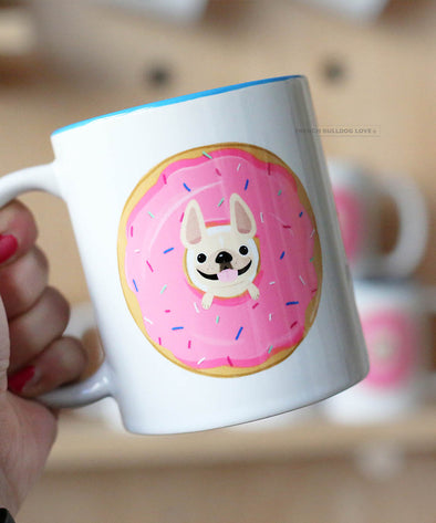 Coffee Donuts Frenchies Mug - French Bulldog Mug