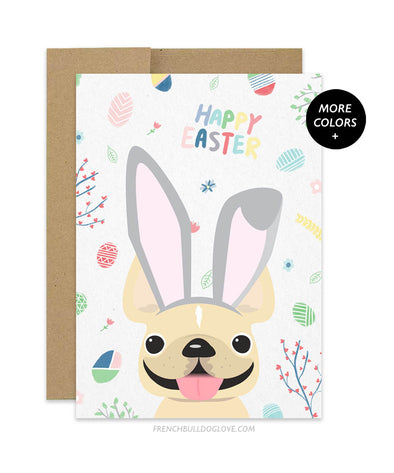 Easter Bunny Ears - French Bulldog Greeting Card