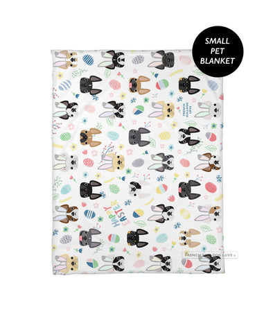 Easter Time French Bulldog Pet Blanket - Small