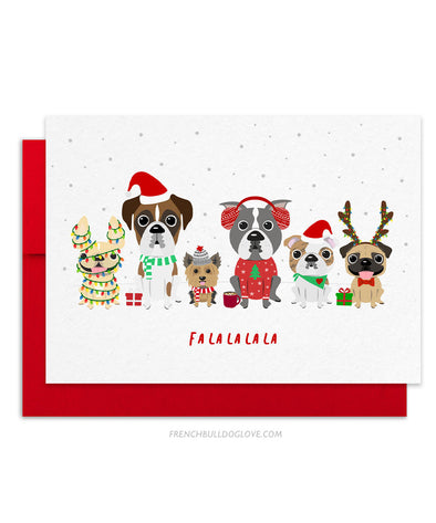 Holiday Card - A Dog Park Christmas - Holiday Christmas Card