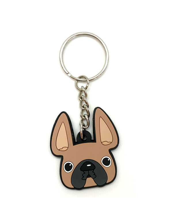 Frenchie Face Mini Keychain / Fawn - French Bulldog Love - 1