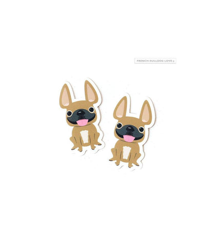 Itty Bitty Mini Stickers - Set of 2 - Frenchie #10 - Waterproof Vinyl