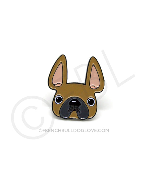 French Bulldog Enamel Pin - Fawn Frenchie