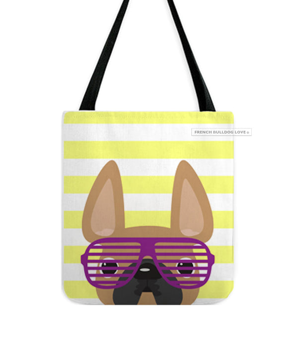 Fawn / Summer Shades French Bulldog Tote Bag